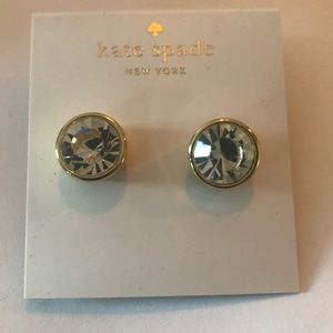 NEW KATE SPADE CRYSTAL Gold Frame STUDS NEW
